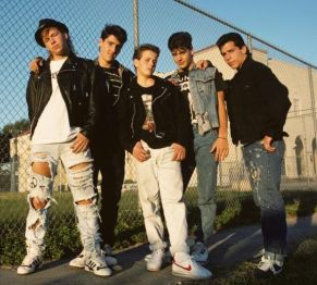 New Kids on the Block photographed in New Orleans, LA on November 1, 1988.